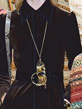 杂志 女式 颈饰 毛衣链图片4609370