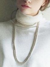 杂志 女式 颈饰 毛衣链图片4652142
