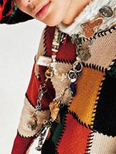 杂志 女式 颈饰 毛衣链图片4652148