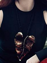 杂志 女式 颈饰 毛衣链图片4693420