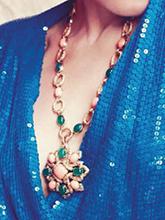 杂志 女式 颈饰 毛衣链图片4693419