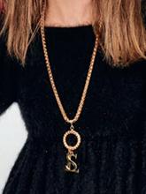 杂志 女式 颈饰 毛衣链图片4696294