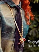 杂志 女式 颈饰 毛衣链图片4719903