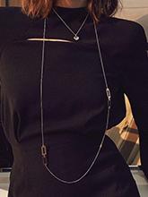 杂志 女式 颈饰 毛衣链图片4728469
