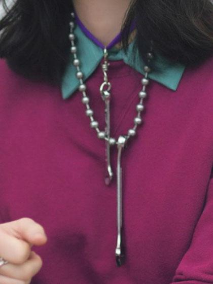 杂志 女式 颈饰 毛衣链图片4744194