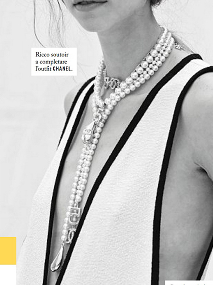 杂志 女式 颈饰 毛衣链图片4814001