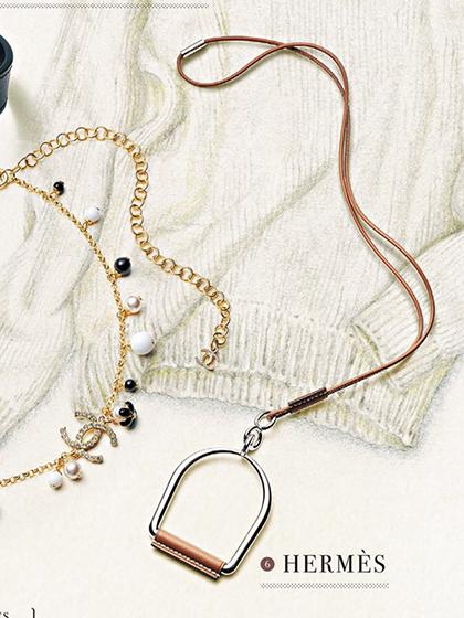 杂志 女式 颈饰 毛衣链图片4838949