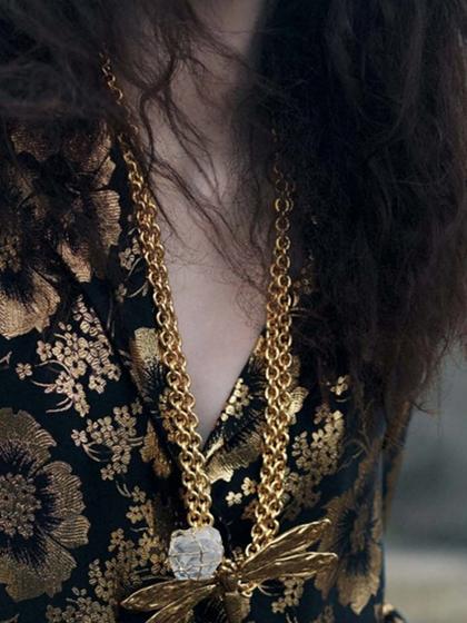杂志 女式 颈饰 毛衣链图片5011377
