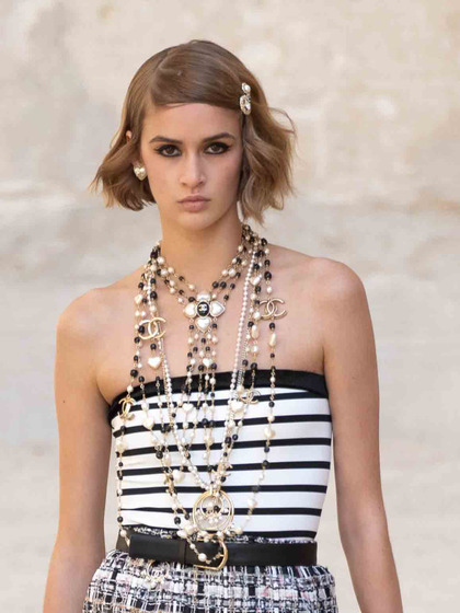 Chanel 发布会 女式 颈饰 毛衣链图片5149848